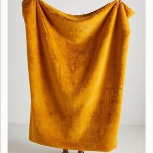 Anthropologie Sophie Faux Fir Throw Blanket